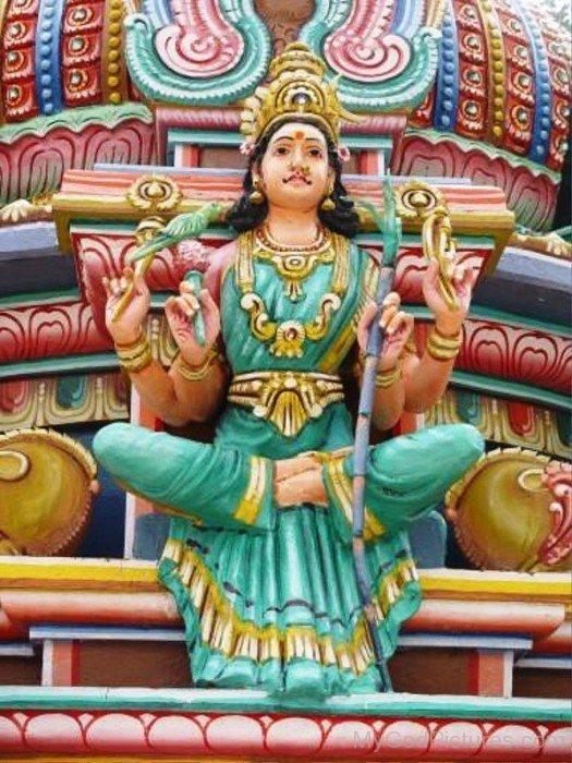 Statue Of Goddess Kamakshi-ty214