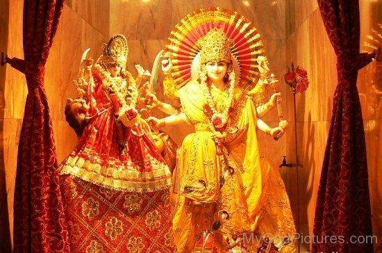 Statue Of Goddess Kanaka Durga-da19