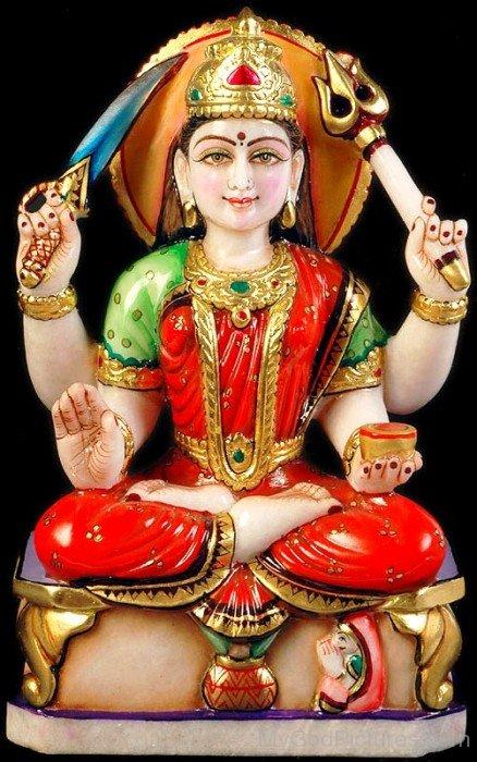 Statue Of Goddess Santoshi-bv912