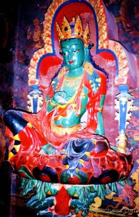 Statue Of Green Tara-gb3433