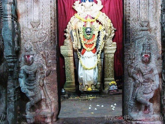Statue Of Virabhadra At Temple