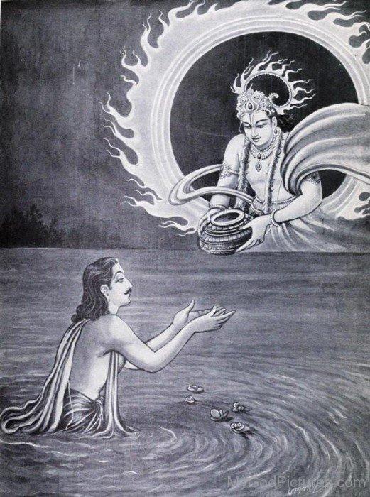 Surya Gifts Akshaypatra To Yudhishthira-vc11