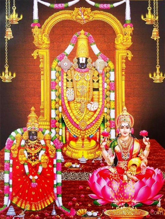 Swami Venkateswara With Tirupathi And Lakshmi-fd322