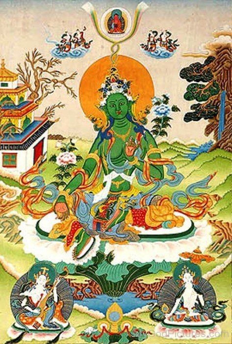 The Savior Goddess Green Tara-gb3435