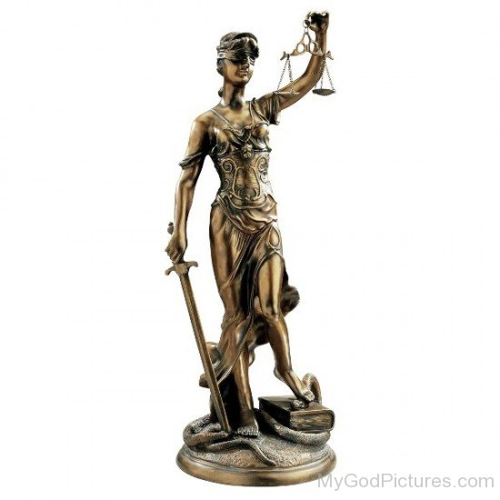 Themis Bronze Statue-re313