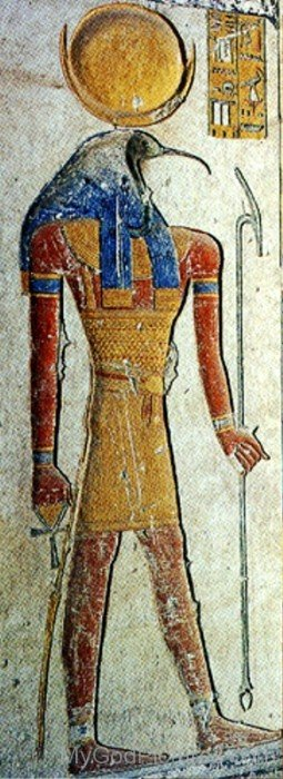 Thoth Painting On Wall-yb528