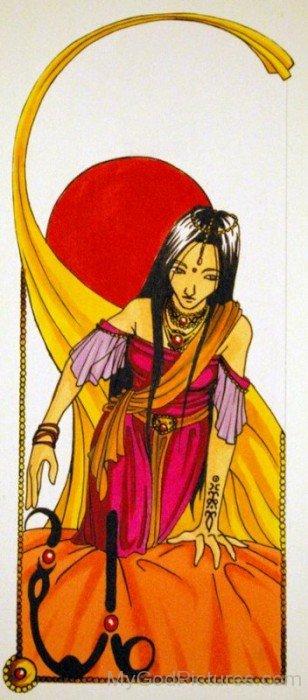 Ushas Goddess Image-yb16