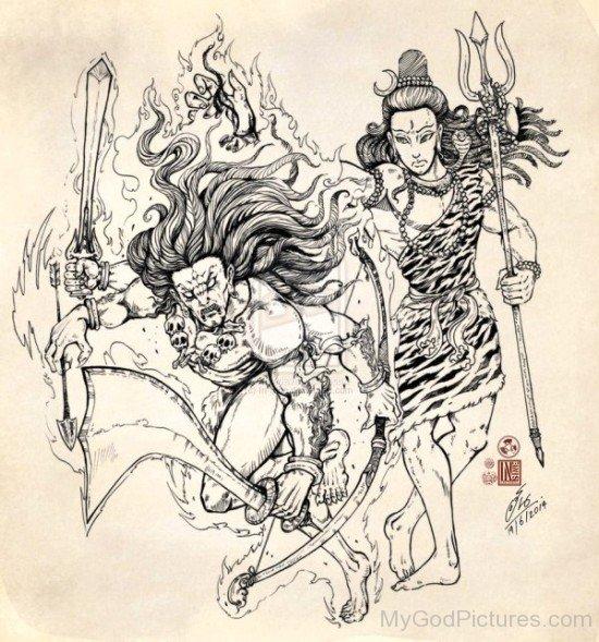 Virabhadra And Lord Shiva-uk811