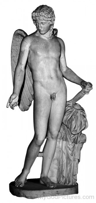 White Statue Of Eros