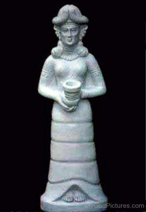 White Statue Of Inanna-yt619