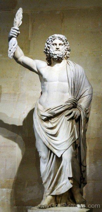 White Statue Of Zeus-tb614