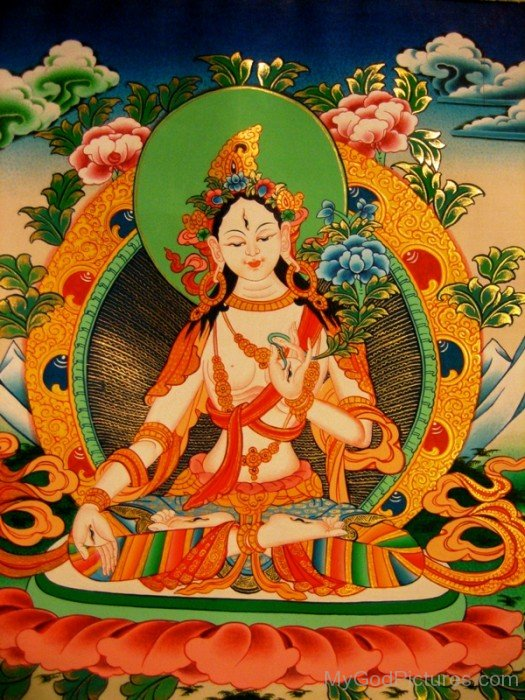 White Tara Goddess Image-gb3436