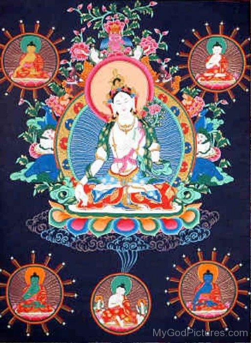 White Tara Goddess Picture-gb3438