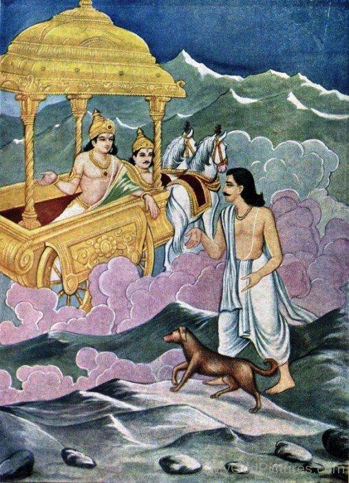 Yudhishthira With Dog-vc14