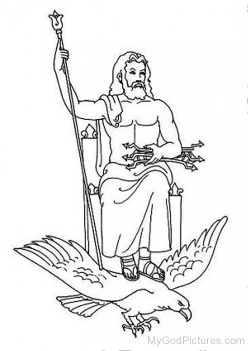 Coloring Pages Zeus : Kratos and zeus coloring pages