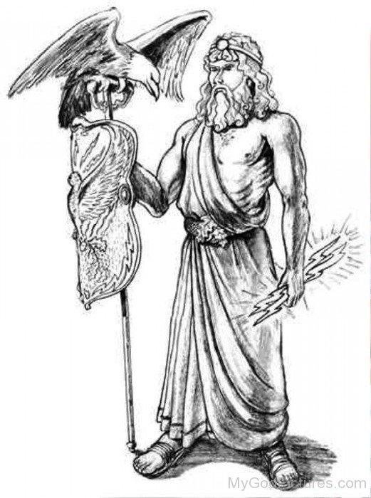 Zeus With Eagle-tb622
