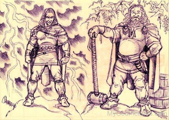 God Dagda And Thor-qol814