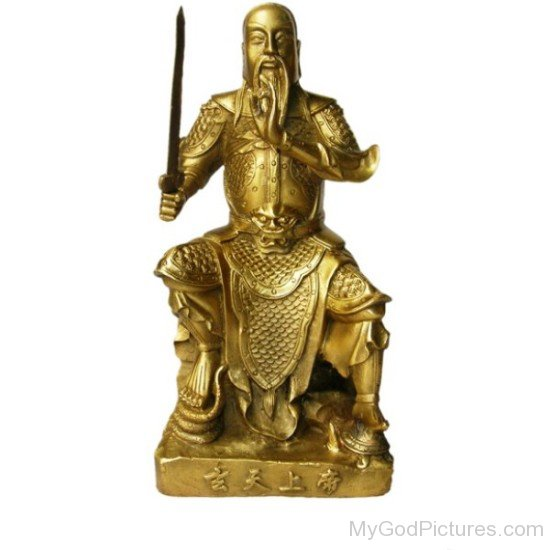 Golden Statue Of Shangdi-sxo904