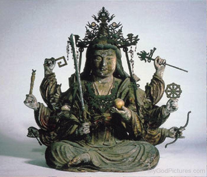 Bronze Statue Of Benzaiten-ur405