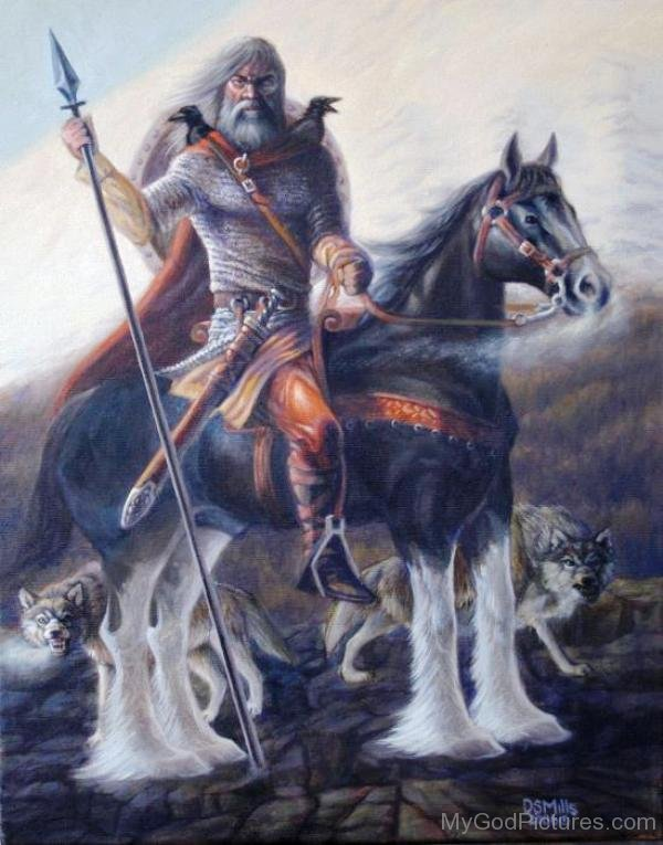 God Dagr Mount On His Horse-tsq124