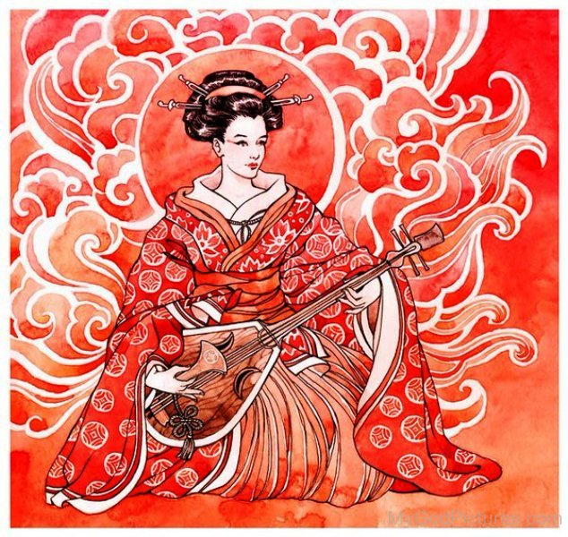 Goddess Benzaiten Picture-ur411