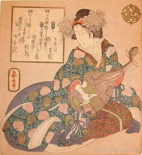 Goddess Benzaiten Portrait-ur412