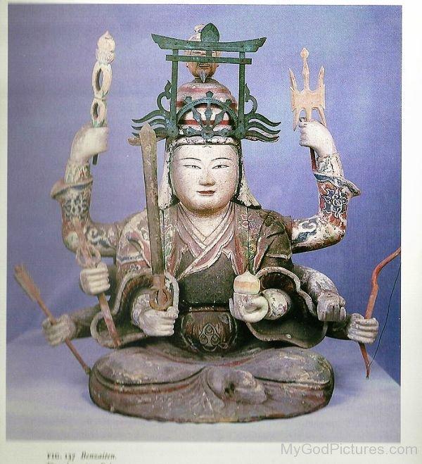Goddess Benzaiten Statue-ur413