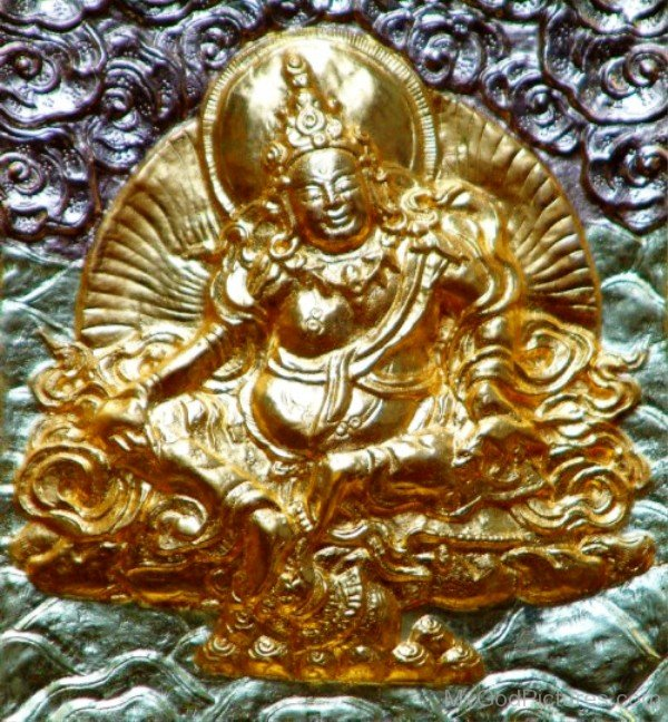 Golden Sculpture Of Vaisravana-gss204