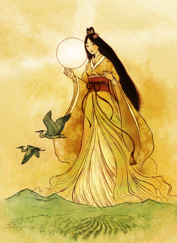 Image Of Goddess Amaterasu