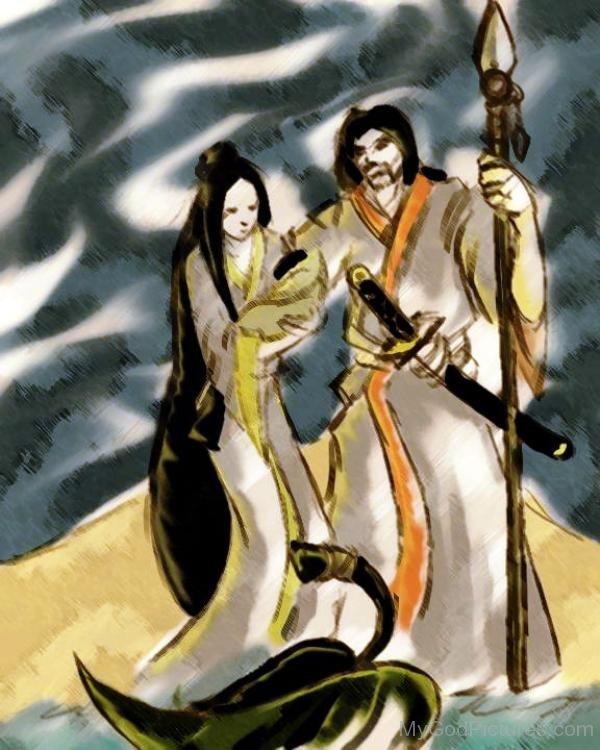 Izanagi And Izanami Painting-hnn3402