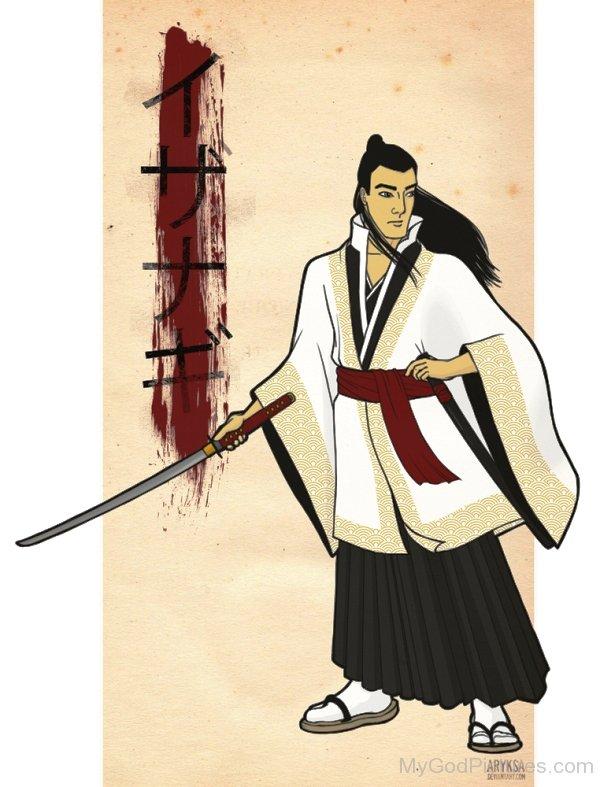 Izanagi Holding His Sword-hnn3404