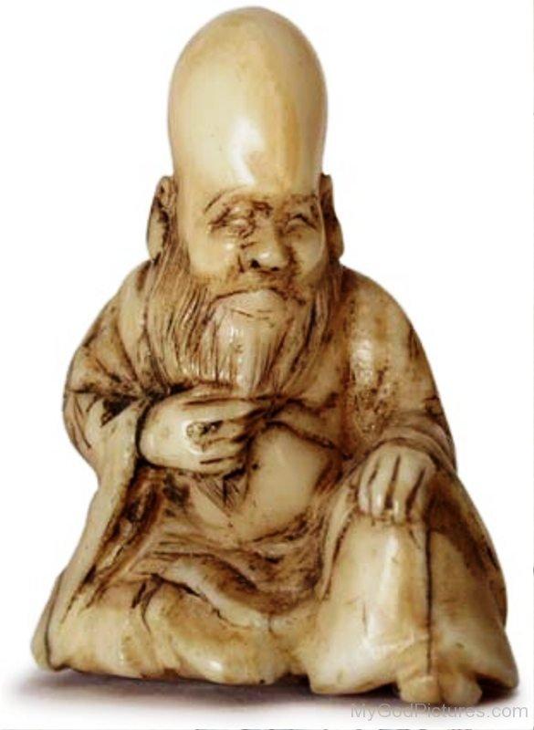 Marble Statue Of Fukurokuju-dnu7615