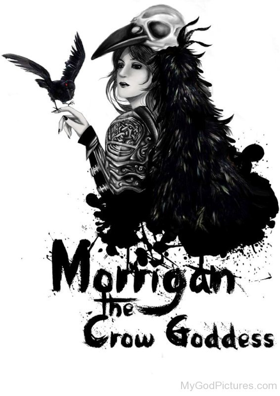Morrigan The Crow Goddess-ekd323