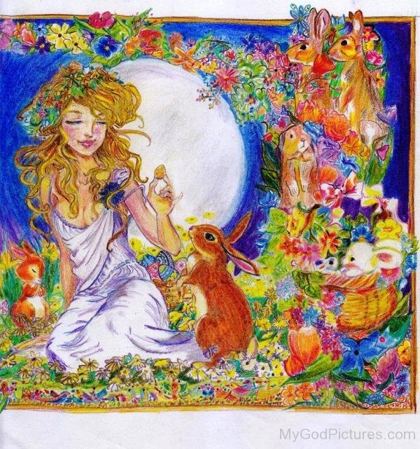 Painting Of Eostre-thw2318