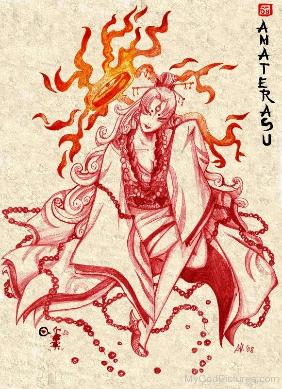 Painting Of Goddess Amaterasu-lmn6719