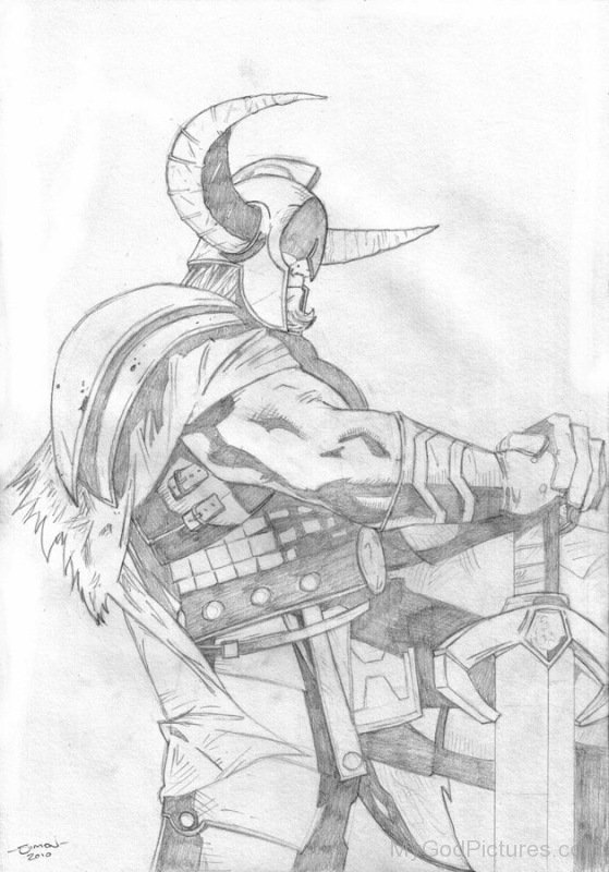 Pencil Sketch Of Heimdall