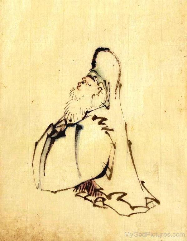 Sketch Of Fukurokuju-dnu7619