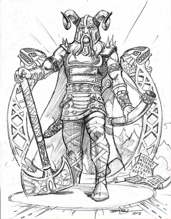 Sketch Of Heimdall-bsq1221