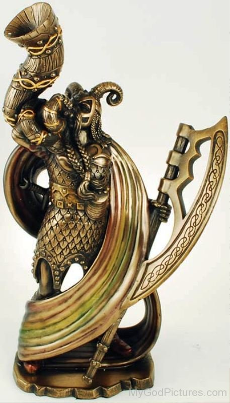 Statue Of Norse Heimdall-bsq1222