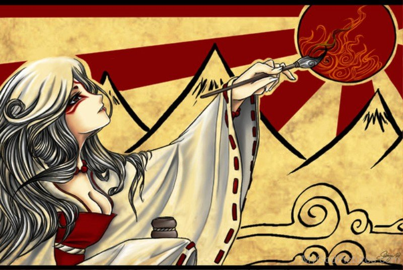 Sun Goddess Amaterasu